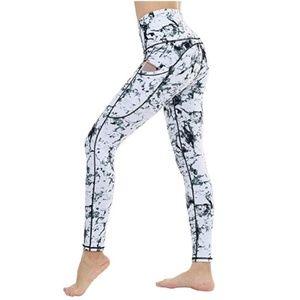 Pants - High Waisted Marble Yoga Pants with Pockets